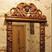 Для дома и интерьера ручной работы. Ярмарка Мастеров - ручная работа Рама резная для зеркала. Handmade.