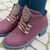 Обувь ручной работы. Ярмарка Мастеров - ручная работа Эко ботиночки из шерсти Амулет. Handmade.