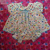 Работы для детей, ручной работы. Ярмарка Мастеров - ручная работа Платье для девочки 12-18 месяцев с трусиками. Handmade.