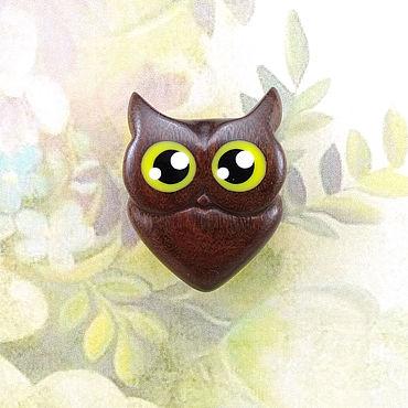 """Украшения ручной работы. Ярмарка Мастеров - ручная работа Брошь """"Шоколадная сова"""". Handmade."""
