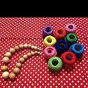 Подарки к праздникам ручной работы. Ярмарка Мастеров - ручная работа Набор для слингобус, можжевеловые бусины. Handmade.