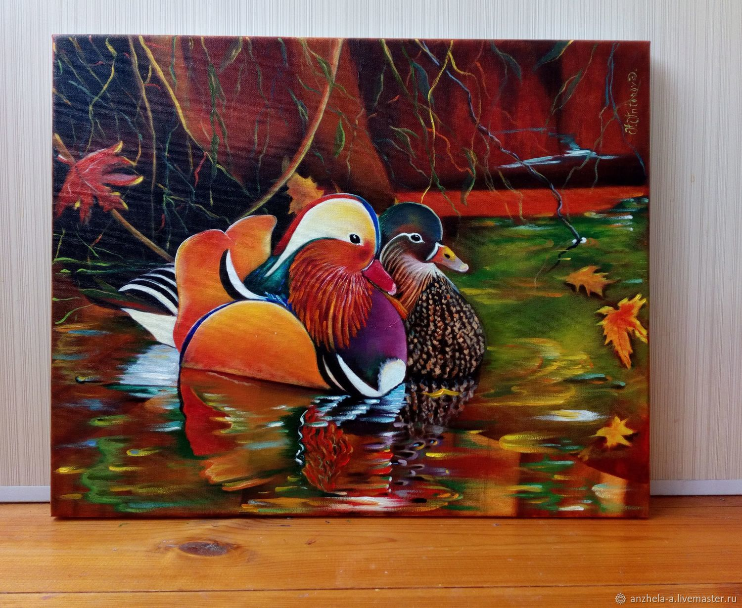 'Mandarin duck oil on canvas', Pictures, Moscow,  Фото №1