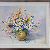 Картины ручной работы. Ярмарка Мастеров - ручная работа Полевые цветы 3. 40х50см. Handmade.
