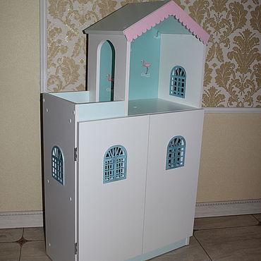 Куклы и игрушки ручной работы. Ярмарка Мастеров - ручная работа Кукольный домик - стеллаж. Handmade.