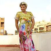 Одежда ручной работы. Ярмарка Мастеров - ручная работа Шелковое платье  Primavera. Handmade.