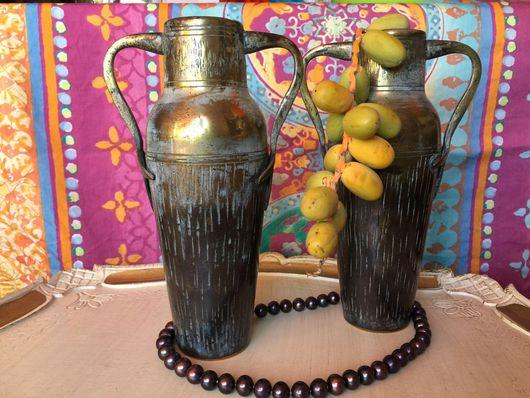 Винтажные предметы интерьера. Ярмарка Мастеров - ручная работа. Купить Парные вазы Англия, Birminghem, стык 19-20 века, бронза. Handmade.