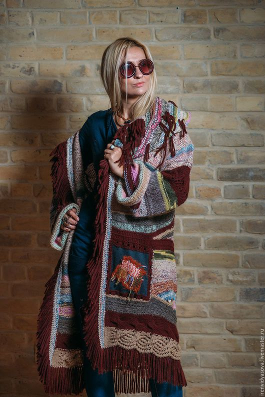 """Платья ручной работы. Ярмарка Мастеров - ручная работа. Купить Пальто""""Европа"""". Handmade. Фиолетовый, карман, Пальто на осень"""