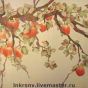 """Картины и панно ручной работы. Ярмарка Мастеров - ручная работа Панно """"Ветка яблони"""". Handmade."""