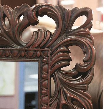 Для дома и интерьера ручной работы. Ярмарка Мастеров - ручная работа Зеркало в раме из красного дерева. Handmade.