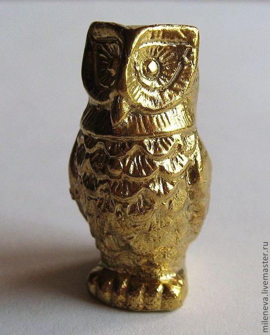 Миниатюра ручной работы. Ярмарка Мастеров - ручная работа. Купить Статуэтка Сова (литьё). Handmade. Золотой, миниатюра, бронза, бронзовый