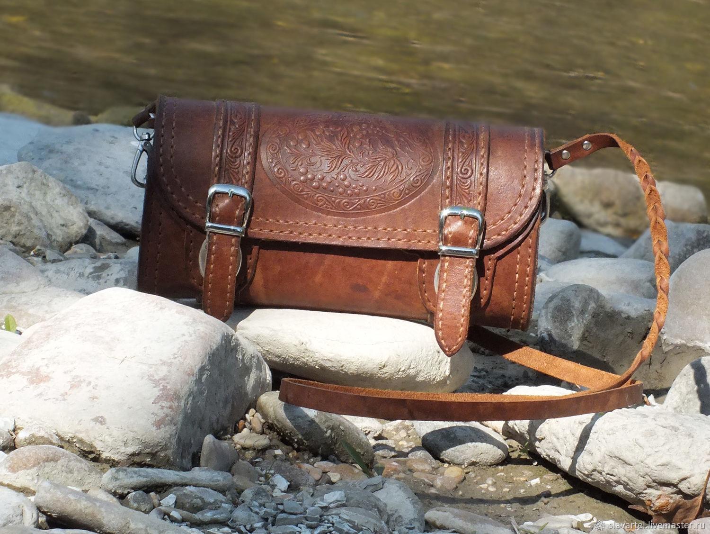 Women's leather shoulder bag Currant, Classic Bag, Pyatigorsk,  Фото №1