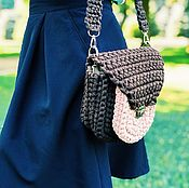 Сумки и аксессуары handmade. Livemaster - original item Knitted bag with pocket. Handmade.