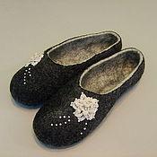 """Обувь ручной работы handmade. Livemaster - original item Тапочки валяные ручной работы """"Винтаж"""". Handmade."""