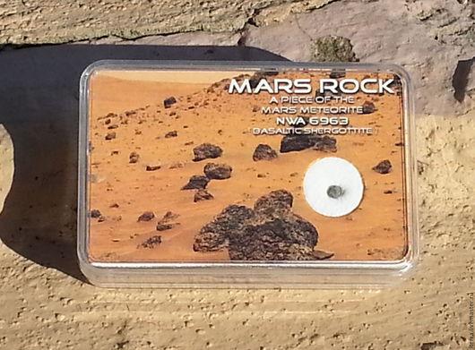 Подарки для мужчин, ручной работы. Ярмарка Мастеров - ручная работа. Купить Метеорит с Марса NWA 6963. Handmade. Серый