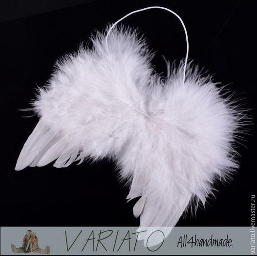 Куклы и игрушки ручной работы. Ярмарка Мастеров - ручная работа. Купить ВРЕМЕННО НЕТ! Крылья ангела из перьев 15х11 см. Handmade.