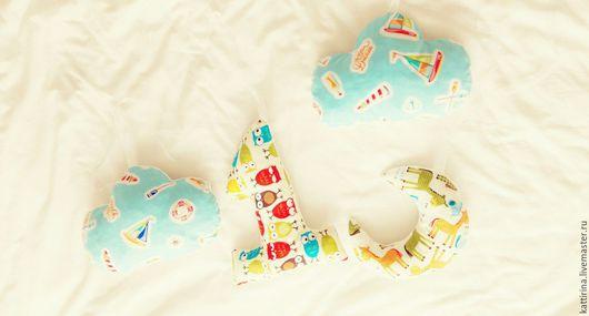Детская ручной работы. Ярмарка Мастеров - ручная работа. Купить Мягкие буквы. Handmade. Комбинированный, Подушки, мягкие, хлопок, флис