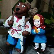 Куклы и пупсы ручной работы. Ярмарка Мастеров - ручная работа Маша и медведь 13 см мультики. Handmade.