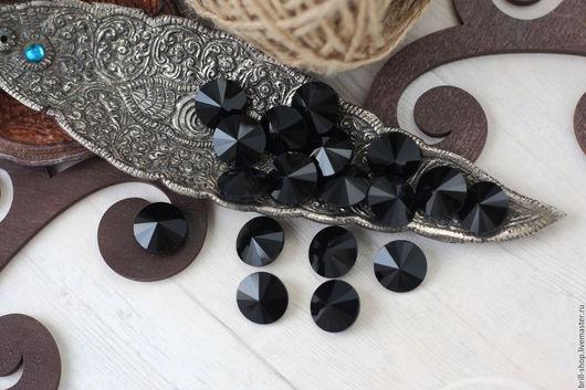 Для украшений ручной работы. Ярмарка Мастеров - ручная работа. Купить Риволи 16 мм Black (Черный). Handmade. Черный