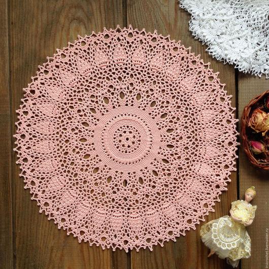 Текстиль, ковры ручной работы. Ярмарка Мастеров - ручная работа. Купить Салфетка крючком розового цвета(1). Handmade. Розовый