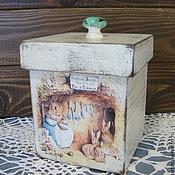 """Для дома и интерьера ручной работы. Ярмарка Мастеров - ручная работа короб   """" Норка для кролика"""". Handmade."""