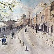 """Картины и панно ручной работы. Ярмарка Мастеров - ручная работа """"Стамбул"""", акварель. Handmade."""