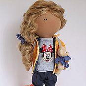 Куклы и игрушки ручной работы. Ярмарка Мастеров - ручная работа Текстильная кукла Кудряшка. Handmade.
