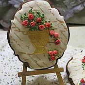 Пряники ручной работы. Ярмарка Мастеров - ручная работа Имбирный пряник Ваза с цветами. Handmade.