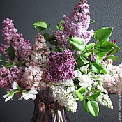 Цветы и флористика handmade. Livemaster - original item Bouquet of lilac
