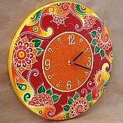 """Для дома и интерьера ручной работы. Ярмарка Мастеров - ручная работа Часы """"Яркие краски"""". Handmade."""
