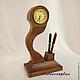 Часы для дома ручной работы. Ярмарка Мастеров - ручная работа. Купить Часы настольные. Handmade. Коричневый, часы для дома