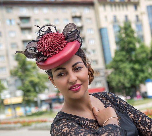 Шляпы ручной работы. Ярмарка Мастеров - ручная работа. Купить Шляпка из натуральной кожи. Handmade. Шляпка женская, украшение