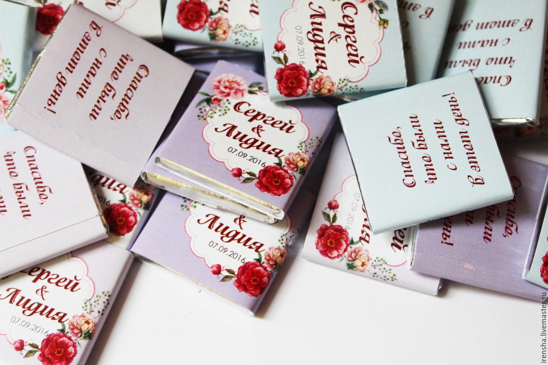 Шоколад подарки гостям 5