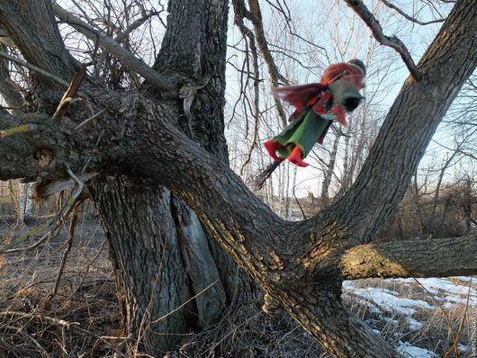 Народные куклы ручной работы. Ярмарка Мастеров - ручная работа. Купить Баба ЯГА. Handmade. Баба яга, баба йога