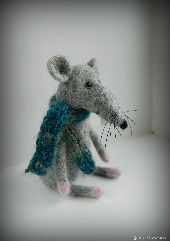 Rat felted rat rat baby rat, Felted Toy, Ufa,  Фото №1