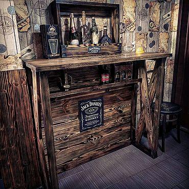 Мебель ручной работы. Ярмарка Мастеров - ручная работа Барная стойка Джек Дэниэлс. Handmade.