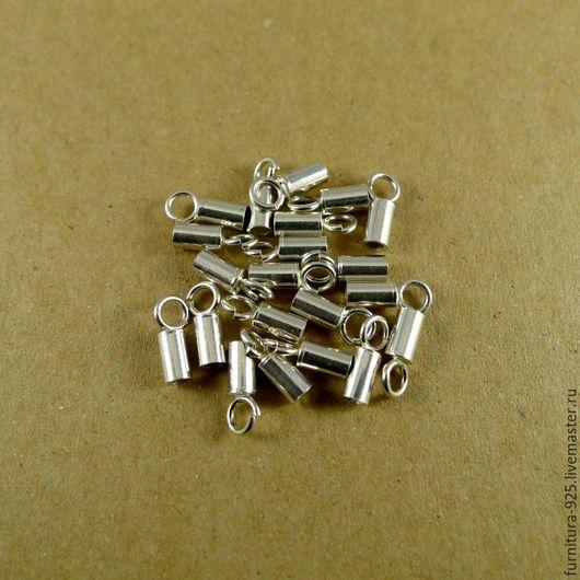 Для украшений ручной работы. Ярмарка Мастеров - ручная работа. Купить Серебряное звено для шнурка 2 мм из стерлингового серебра 925 пробы. Handmade.