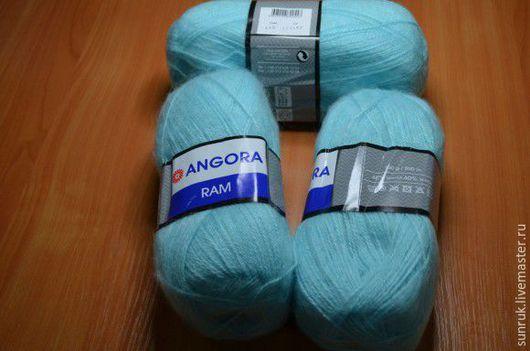 Вязание ручной работы. Ярмарка Мастеров - ручная работа. Купить Пряжа для ручного вязания Angora Ram, Турция. Handmade. Голубой
