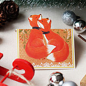 Подарки к праздникам handmade. Livemaster - original item Greeting card