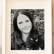 Картины и панно ручной работы. Ярмарка Мастеров - ручная работа С котом. Handmade.