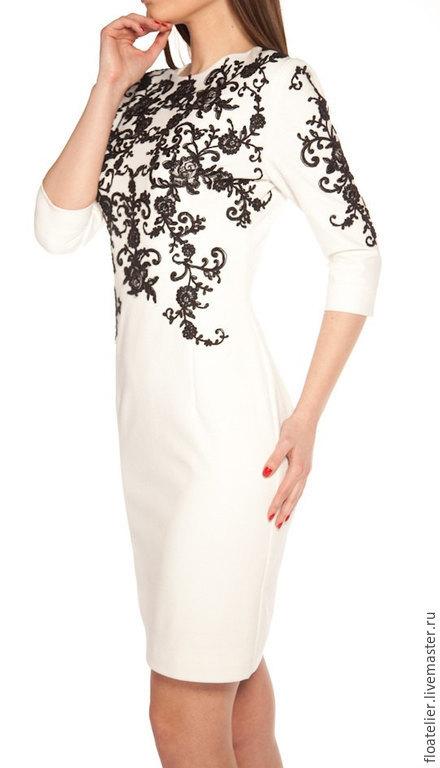 Платья ручной работы. Ярмарка Мастеров - ручная работа. Купить Кружевное платье MINI/Ручное платье в черном и в белом цвете/F1197. Handmade.