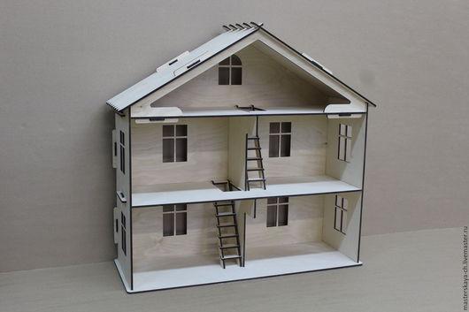 Куклы и игрушки ручной работы. Ярмарка Мастеров - ручная работа. Купить Кукольный дом. Handmade. Кукольный дом, дом из фанеры