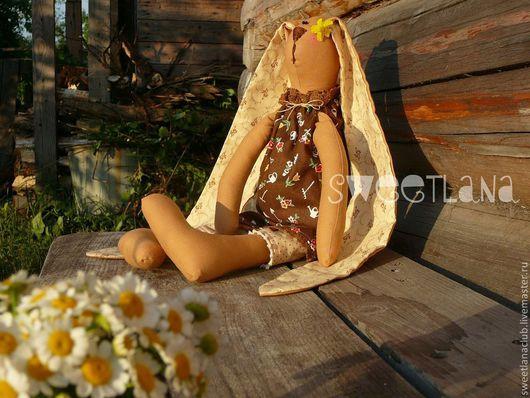 Куклы Тильды ручной работы. Ярмарка Мастеров - ручная работа. Купить Зайцы тильда #дача. Handmade. Коричневый, огород, загорелая