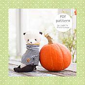 Материалы для творчества ручной работы. Ярмарка Мастеров - ручная работа Выкройка мишки  панды 17 см, выкройка панды, выкройка тедди панда. Handmade.
