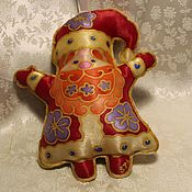 Для дома и интерьера handmade. Livemaster - original item Toys: textile Santa Claus on the Christmas tree, hand painted. Handmade.