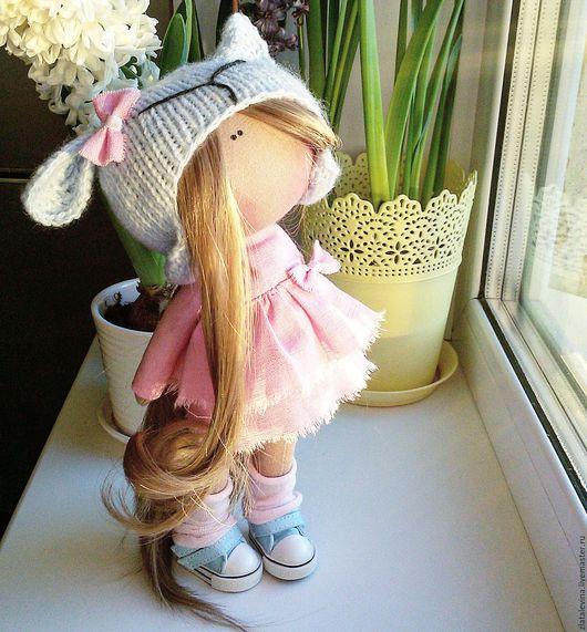 Коллекционные куклы ручной работы. Ярмарка Мастеров - ручная работа. Купить Интерьерная кукла 26см. Handmade. Интерьерная кукла, лён