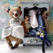 Мягкие игрушки ручной работы. Ярмарка Мастеров - ручная работа Грета 23 см, игрушка, шкафчик, одежда. Handmade.
