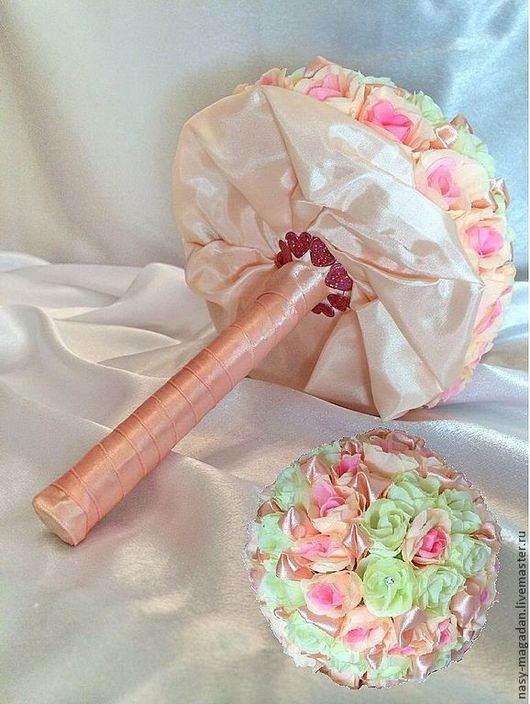 """Свадебные цветы ручной работы. Ярмарка Мастеров - ручная работа. Купить Букет """"Нежность"""". Handmade. Букет, фальш-букет, персик"""