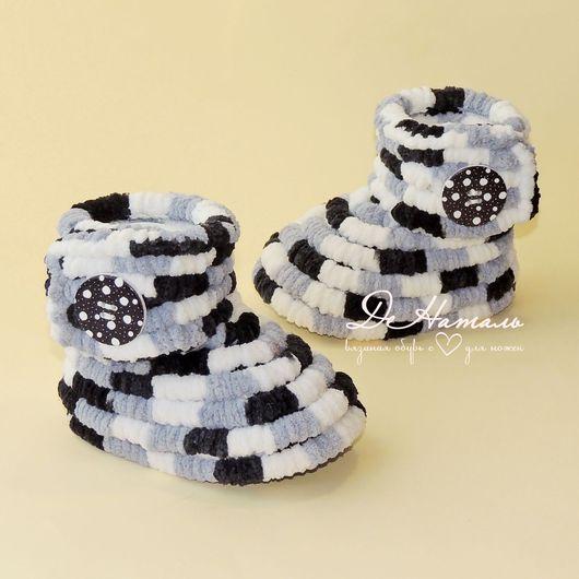 Обувь ручной работы, вязаная обувь, детская обувь, работы для детей, демисезонная обувь, домашние тапочки, летняя обувь, зимняя обувь, пинетки, сапожки, плюшевые сапожки, тапочки, ДеНаталь, вязаные