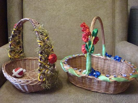 Подарки на Пасху ручной работы. Ярмарка Мастеров - ручная работа. Купить Пасхальная корзинка. Handmade. Пасхальная корзинка, Плетение из лозы