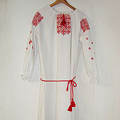 Свадебный салон handmade. Livemaster - original item Slavic embroidered festive dress